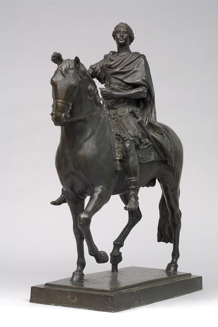 Louis XV, roi de France (1715-1774), à cheval, en costume romain |